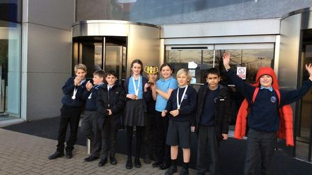 Pupils from Bawdsey CEVCP school. Picture: Katie Butler