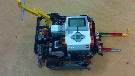 The Lego robot used by pupils at the school. Picture: Katie Butler