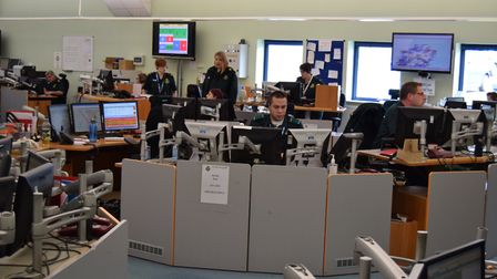 An East of England Ambulance Service control room, which handles 999 calls. Picture: CONTRIBUTED