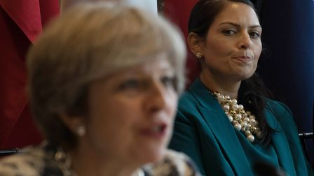 Priti Patel and Prime Minister Theresa May. Picture: STEFAN ROUSSEAU