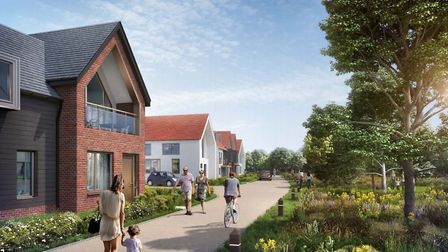 A conceptual image of how the Adastral Park development might look where the housing meets the edge
