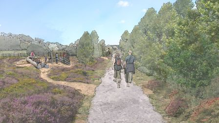 An artist's impression of one of the footpaths through the Adastral Park development. Picture: CEG