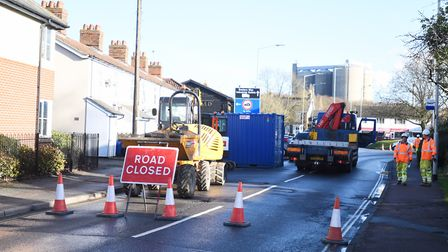 Tayfen Road will be closed for 4 weeks due to essential repairs. Picture: GREGG BROWN
