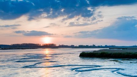 Sunset and boats over River Alde at Snape. Picture: TONY PICK