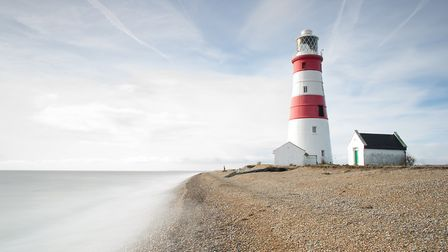 The Orfordness Lighthouse is just one of the places that features in Tony's videos. Picture: TONY PI