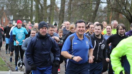 A field of more than 400 runners, joggers and walkers took part in Saturday's Ipswich parkrun. Pictu