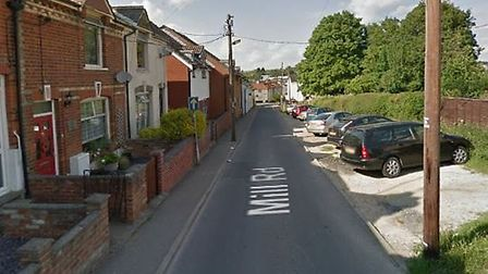 Mill Road in Haverhill, where a woman in her 80s was robbed on Friday. Picture: GOOGLE MAPS