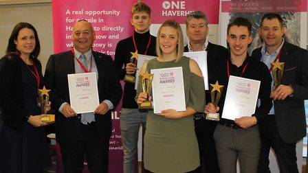 Winners at the One Haverhill Partnership Awards. Picture: GOODERHAM PR