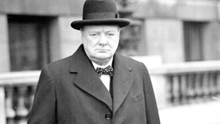 Prime Minister Winston Churchill on his way to a War Council meeting during teh Second World War whe
