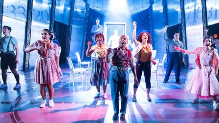 The cast of Tommy at the New Wolsey Theatre. This show which was created by the New Wolsey won the