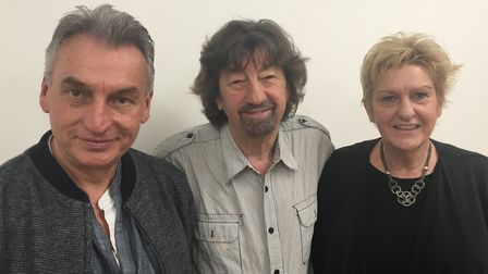 Peter Rowe, Trevor Nunn and Sarah Holmes at The New Wolsey Theatre, Ipswich