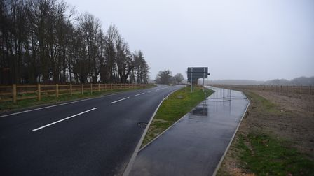 The Sow Lane section of the Bury Eastern Relief Road in Rougham. Picture: GREGG BROWN