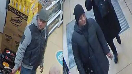 Police haveissuing CCTV images of a man and a woman they would like to speak to in connection with a