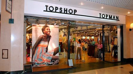 Jobs at risk at Topshop and Topman. Picture: CLIFFORD HICKS
