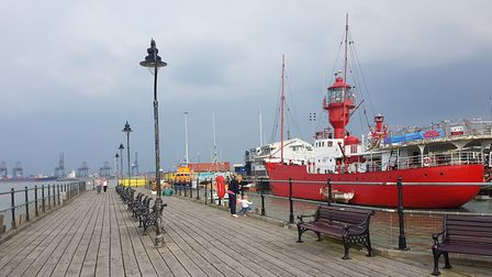 A person was recued off Ha'penny Pier in Harwich. Picture: ARCHANT LIBRARY