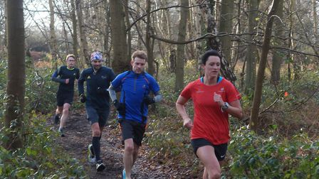 Best foot forward: some of the runners from a field of nearly 400 at Saturday's Kesgrave parkrun