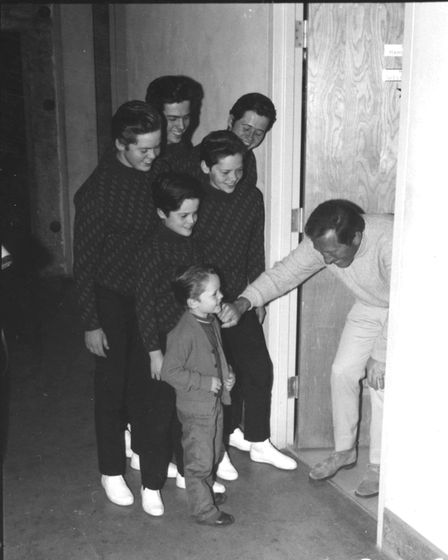 Jimmy Osmond and his brothers with Andy Williams. Picture: CONTRIBUTED