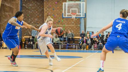Harriet Welham led Ipswich again with 30 points against Derbyshire. Picture: PAVEL KRICKA