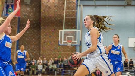 Danni Cazey drives into the key for Ipswich. Picture: PAVEL KRICKA