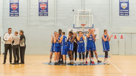 The Ipswich team thank the crowd after their win the National Cup semi-final. Picture: PAVEL KRICKA