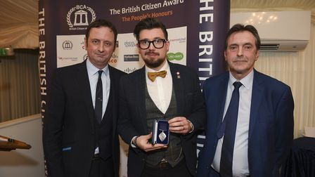 Matt Allwright, Toby Freeman and Pat Egan, of BCA sponsor Places for People, at the awards ceremony