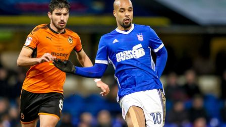 David McGoldrick has been linked with a move away from Town in this transfer window. Picture: STEVE