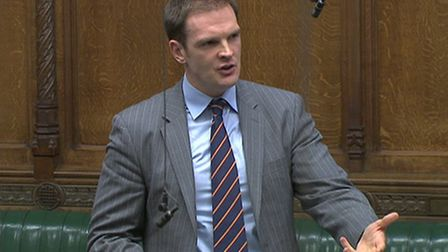 Dr Dan Poulter speaking at Westminster. Picture: ARCHANT LIBRARY