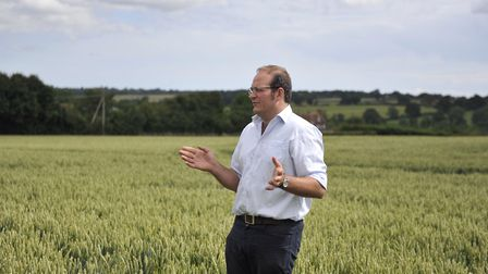 Tom Bradshaw gives a tour of Fletcher's Farm at the HGCA Monitor Farm event in Fordham on Tuesday, 2