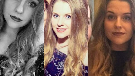 Three images of missing Sophie Smith, who has not been seen since she left her Gorleston home in the