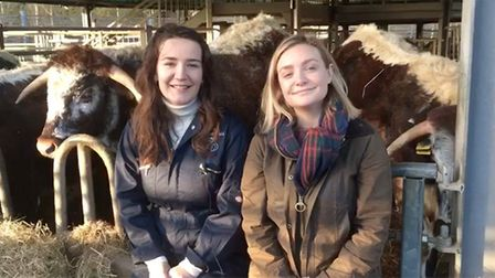 Lucy and Emily McVeigh. Picture: AF GROUP
