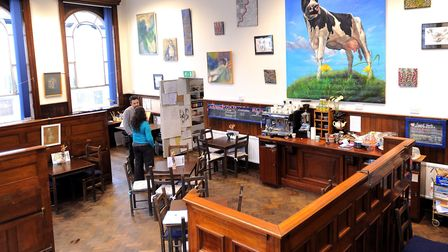 Inside The Bank arts centre - the cafe is especially popular. Picture: GREGG BROWN