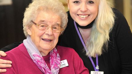 Katy Hughes, home manager, celebrates Mildenhall Lodge's outstanding rating. Picture: LUCY TAYLOR