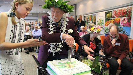 The colourful launch of the Flora of the Cook Islands penned by Bill Sykes, pictured. Picture: MANAA