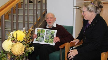 Bill Sykes with his wife Peggy. Picture: MANAAKI WHENUA