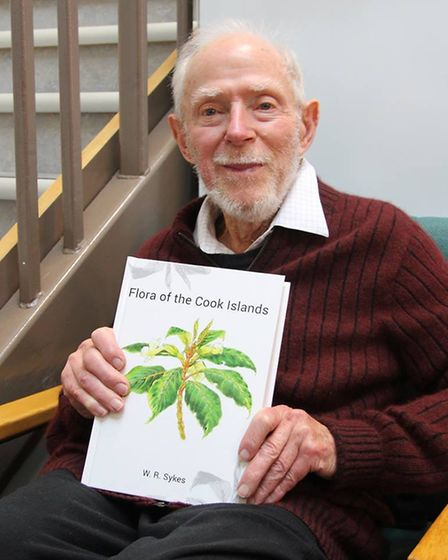 Bill Sykes holding his book. Picture: MANAAKI WHENUA