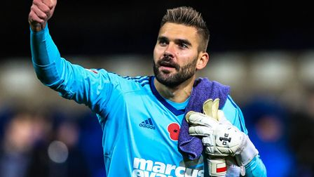 Bartosz Bialkowski has agreed a new contract with Ipswich Town. Photo: Steve Waller