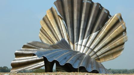 Maggi Hambling's Scallop has been on Aldeburgh beach since 2003. Picture: ALISON BALAAM