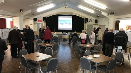 Residents turned out to see the new plans for Wickham Market Village Hall and Archive Centre. Pictur