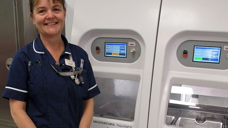 Sally Smith, Colchester General Hospital's matron for endoscopy. Picture: CHRIS BRAMMER