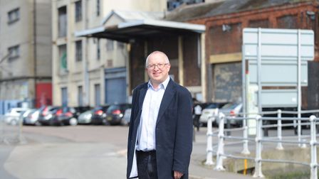 David Ellesmere at Ipswich Waterfront where the road is to be improved. Picture: SARAH LUCY BROWN