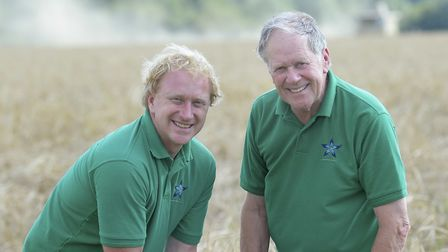 Andrew Fairs, left, and Peter Fairs on their farm near Colchester.