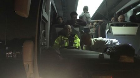 Essex Police officer Dean Young drove a coach full of Stansted Airport-bound passengers to a safe lo