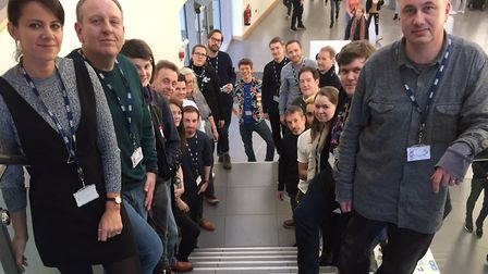Guest speakers at the One sixth form Creative Industries Day. Picture: JOHN NICE