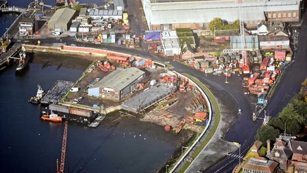 Red7Marine's yard at Ipswich. The firm is to relocated its head office of nearby Fox's Marina.