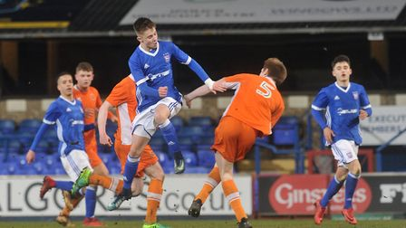 Ipswich Town's Under 18s take on Blackpool this evening. Picture : SARAH LUCY BROWN
