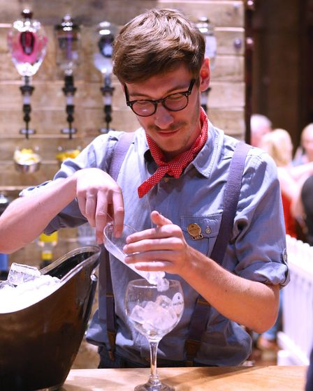 Visitors enjoy themselves at the National Gin Festival in Ipswich. Picture: RICHARD MARSHAM/RMG PHO