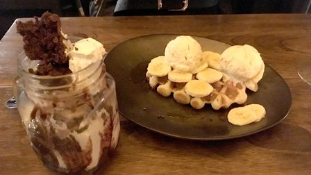 Dessert - waffles and chocolate fudge sundae - at The Forge Kitchen. PICTURE: Archant