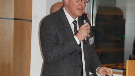 Terry Butcher speaking at the Futurestars UK launched, detailing his experience of visiting the proj