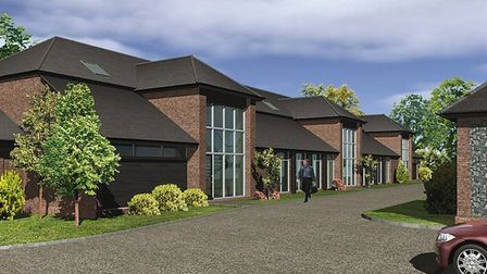 An artist's impression of Suffolk Long Barn at Fornham Business Court which is being converted into