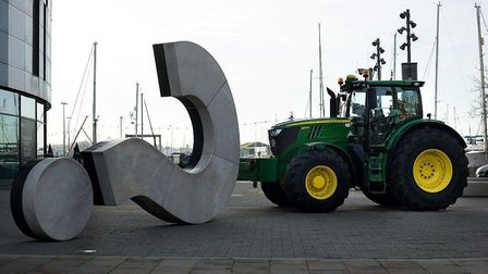 The East of England Co-op's Tremendous Tractor Taste Tour arrived in Ipswich on Tuesday, January 30.